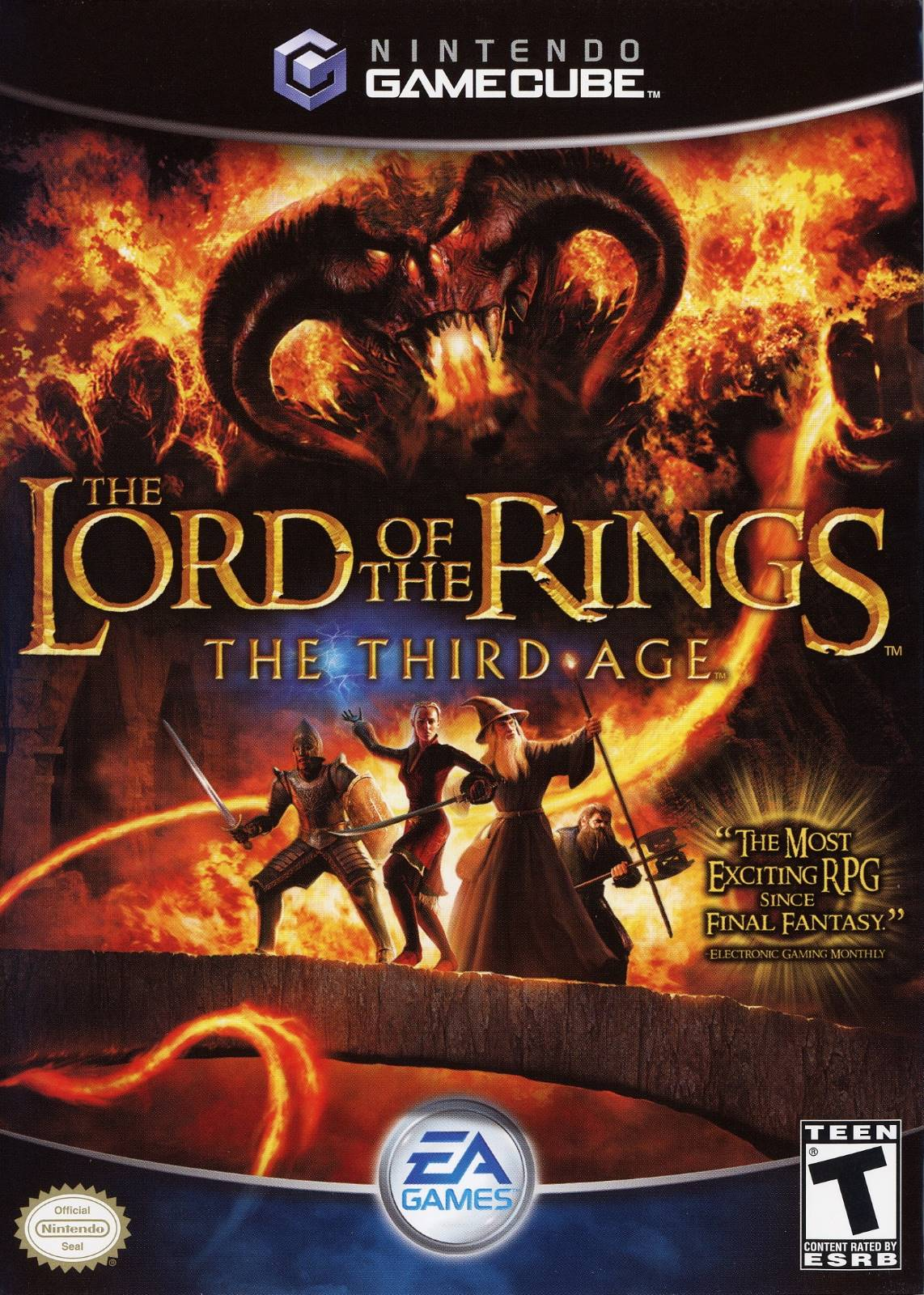 Lord of the Rings Third Age Gamecube Game