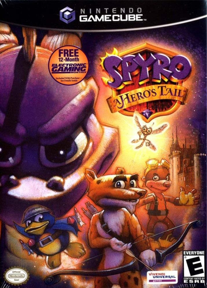 Spyro A Heros Tail Gamecube Game
