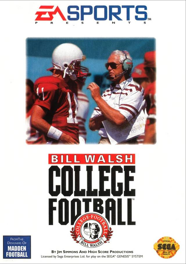 Bill Walsh College Football Sega Genesis
