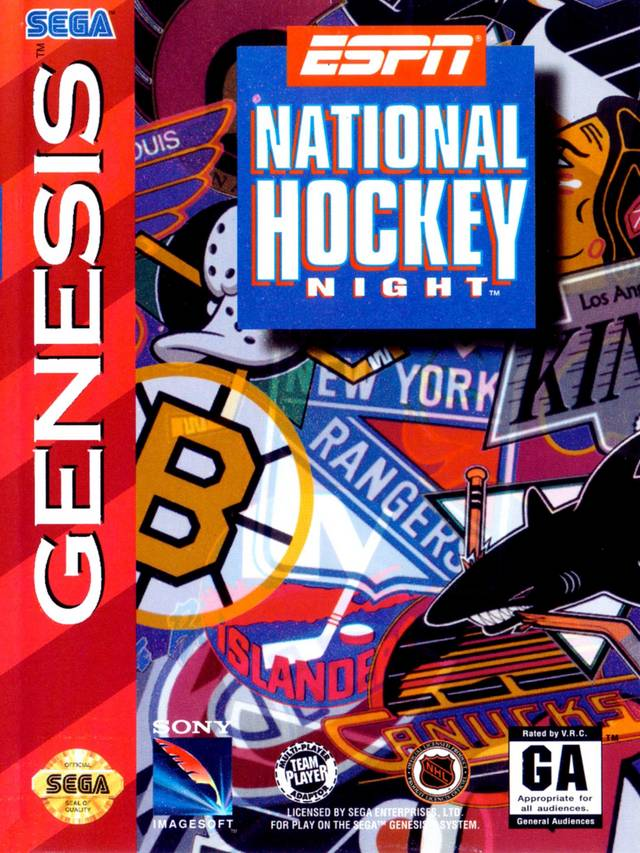 ESPN National Hockey Night Sega Genesis