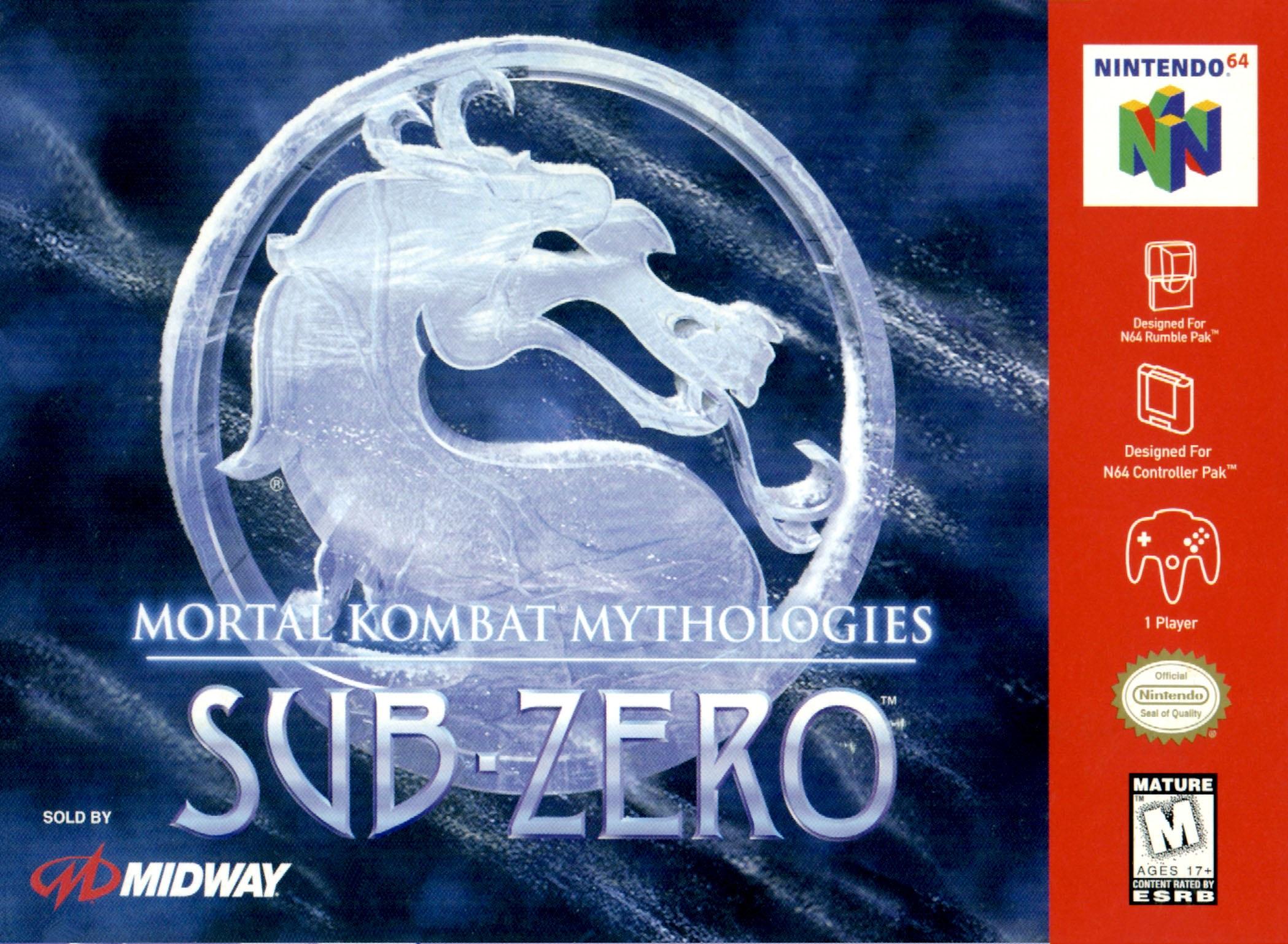Mortal Kombat Mythologies Sub Zero Nintendo 64 Game