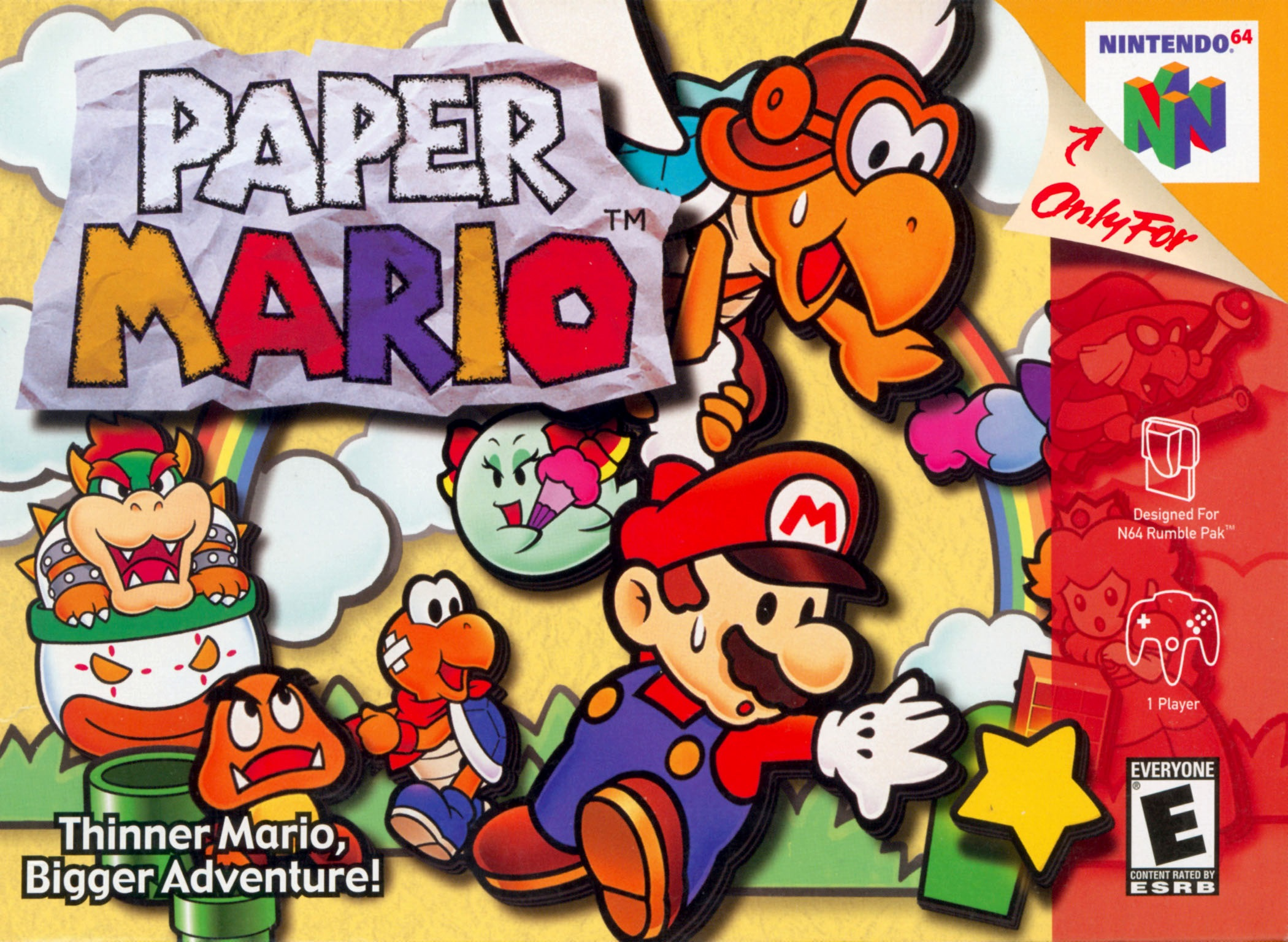 Paper Mario Nintendo 64 Game