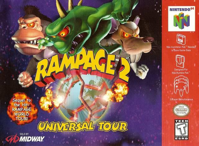 Rampage 2 Universal Tour Nintendo 64 Game