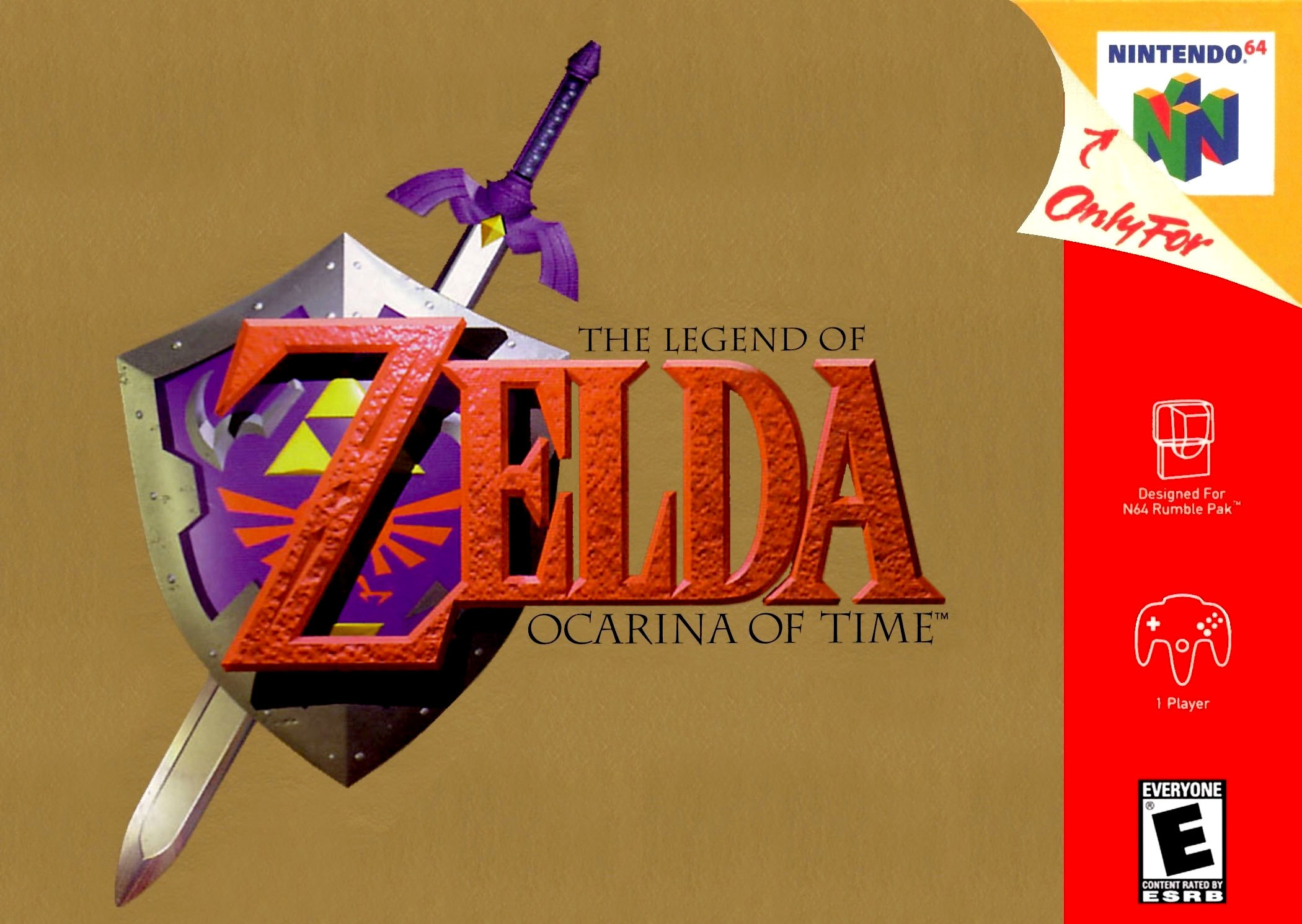 Legend of Zelda Ocarina of Time Gold Collector's Edition Nintendo 64 Game