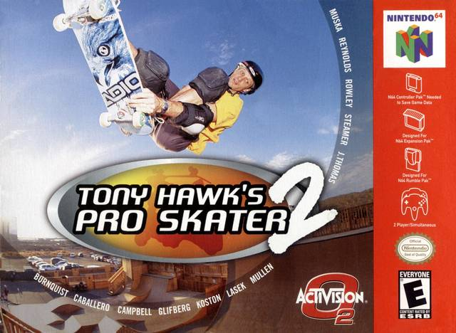 Tony Hawk's Pro Skater 2 Nintendo 64 Game