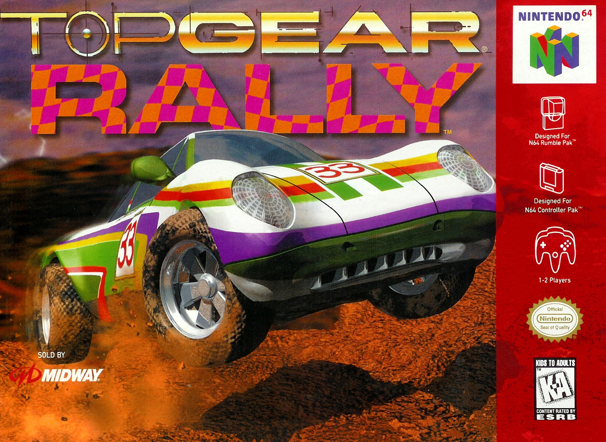 Top gear rally nintendo 64 game top gear rally thumbnail sciox Image collections