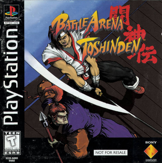 Battle Arena Toshinden Sony Playstation