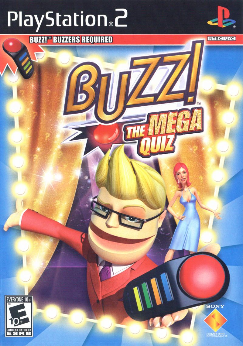 Best Ps Vita Games >> Buzz The Mega Quiz Sony Playstation 2 Game