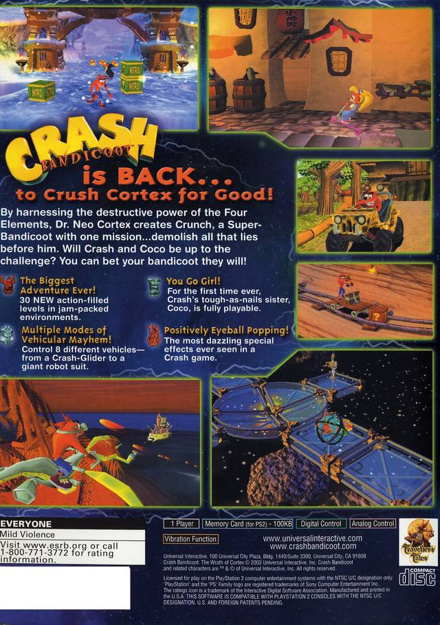 crash the wrath of cortex