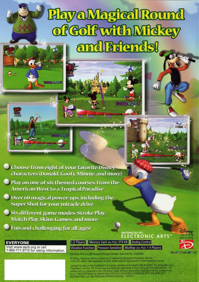Golf Simulator For Sale >> Disney Golf Sony Playstation 2 Game
