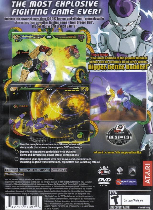 dragonball z budokai tenkaichi 3 playstation 2
