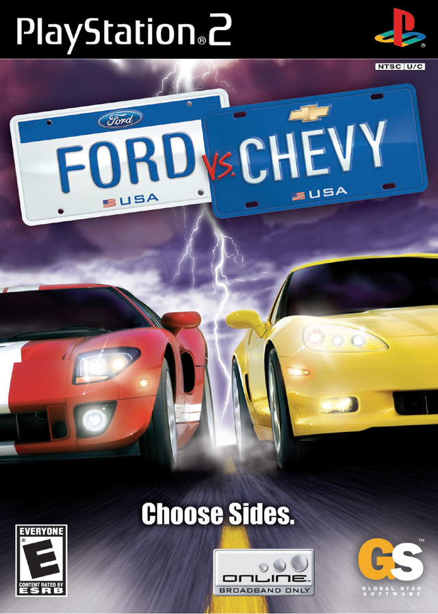 ford vs chevy sony playstation 2 game. Black Bedroom Furniture Sets. Home Design Ideas