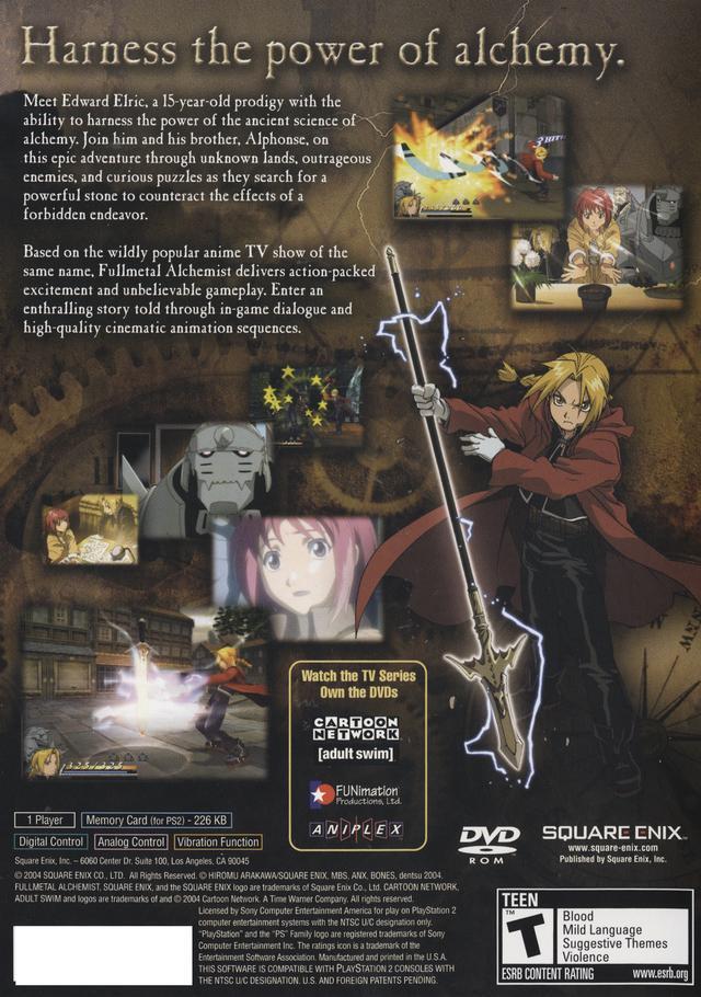 fullmetal alchemist nintendo ds game