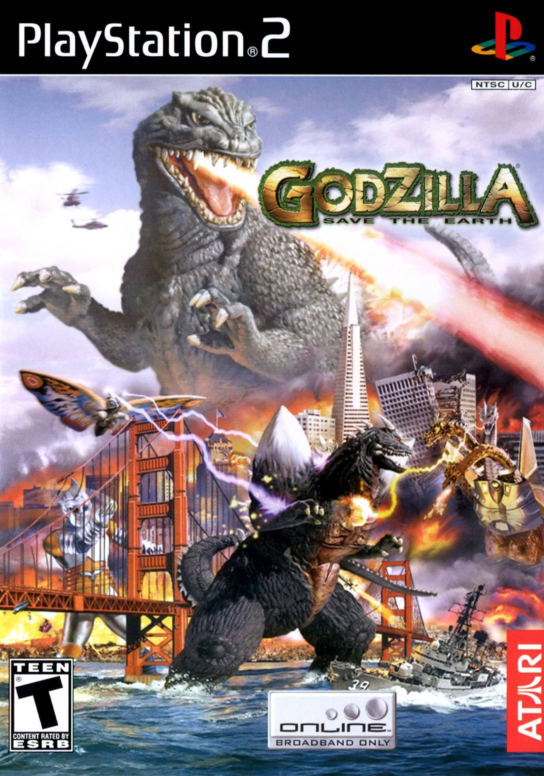 Godzilla Save The Earth Sony Playstation 2 Game