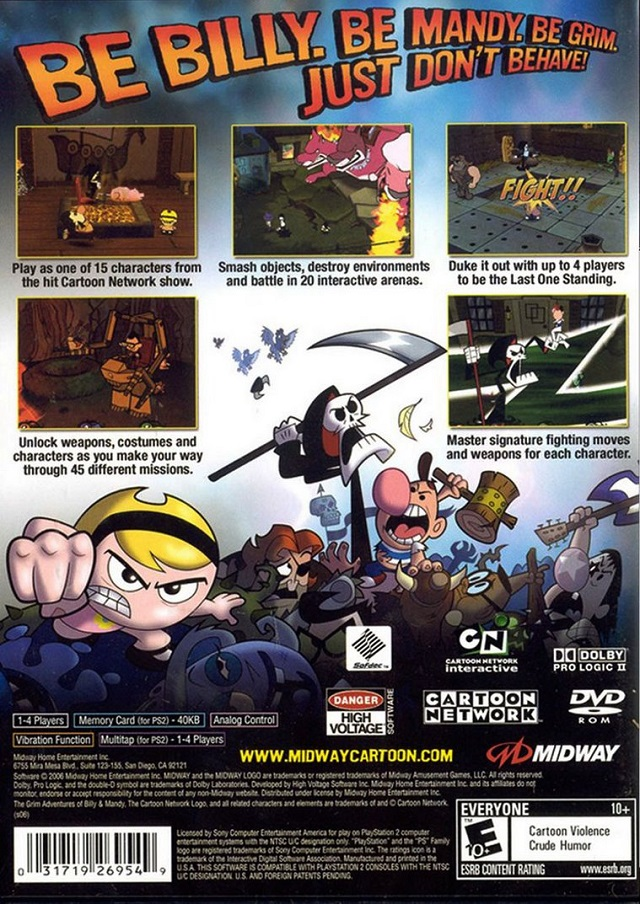 the grim adventures of billy and mandy characters 76865 usbdata