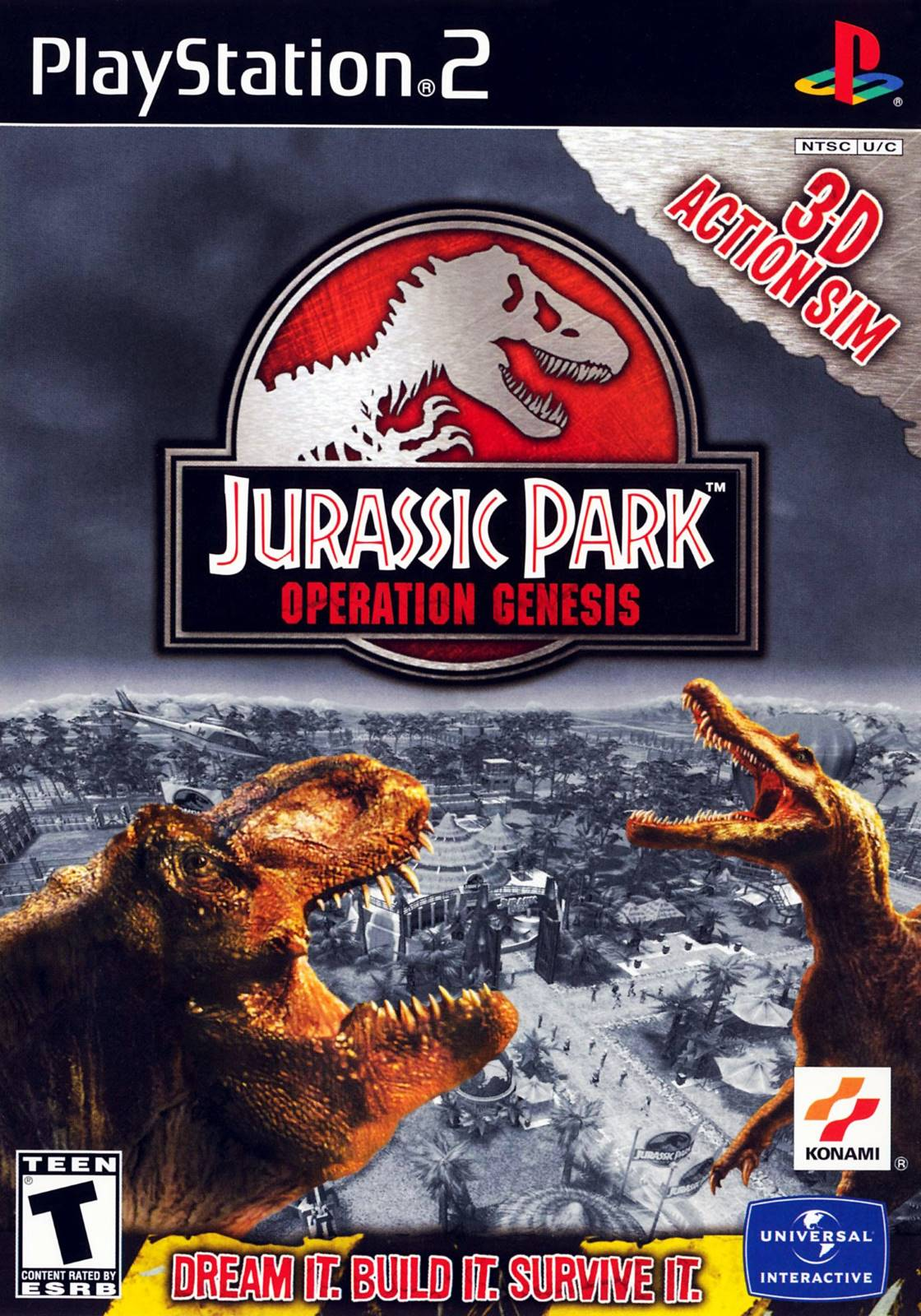 Jurassic Park Operation Genesis Sony Playstation 2 Game