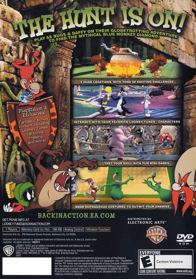 Looney tunes back in action sony playstation 2 game looney tunes back in action image 2 voltagebd Images