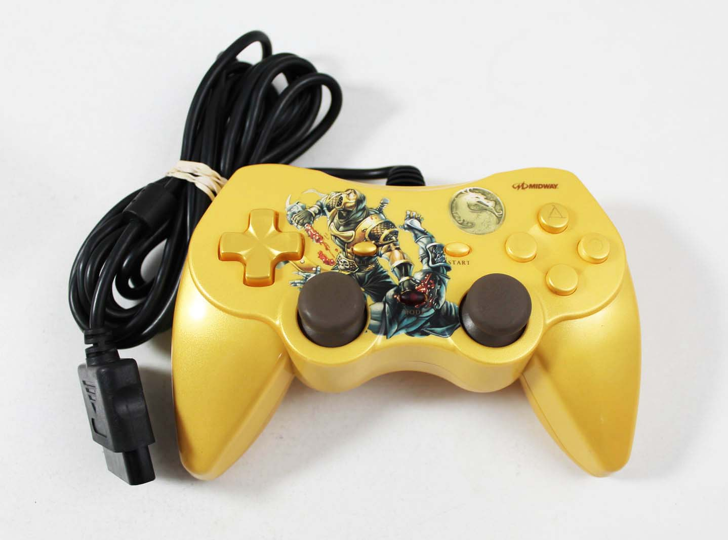 Used Playstation 2 PS2 Mortal Kombat Scorpion Limited Edition Controller