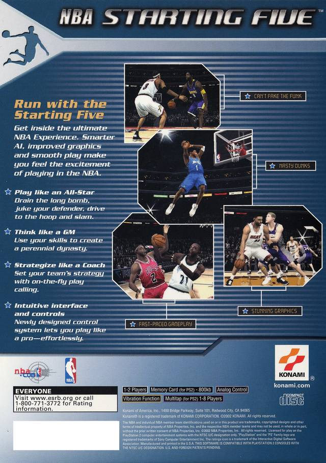 nba starting  sony playstation  game