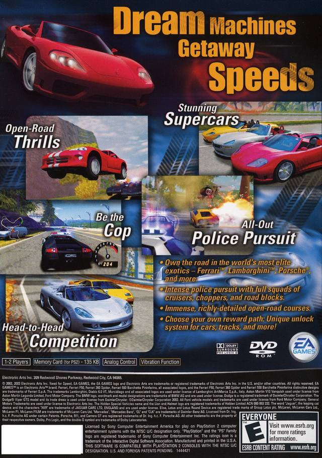 Need For Speed 2 Hot Pursuit Sony Playstation 2 Game