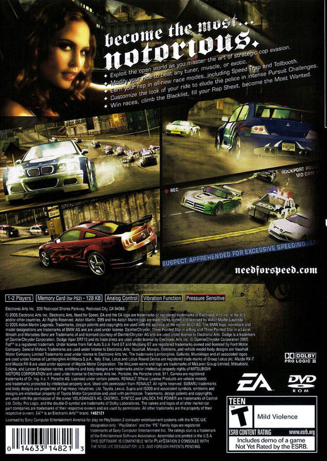 need for speed most wanted sony playstation 2 game. Black Bedroom Furniture Sets. Home Design Ideas