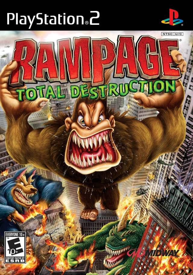 Rampage Total Destruction Sony Playstation 2 Game