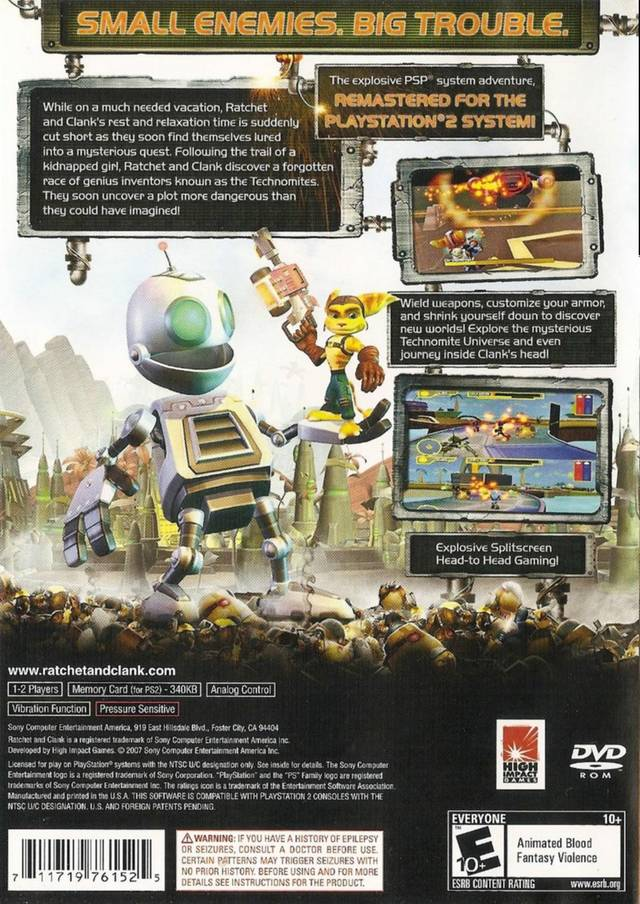 Cheats for ratchet and clank size matters psp.