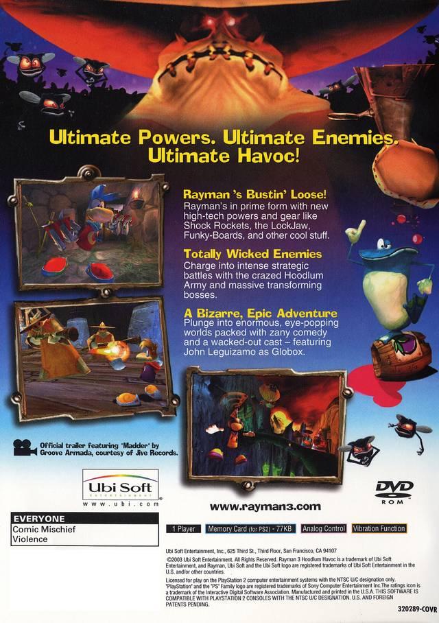 Rayman 3 Hoodlum Havoc Sony Playstation 2 Game
