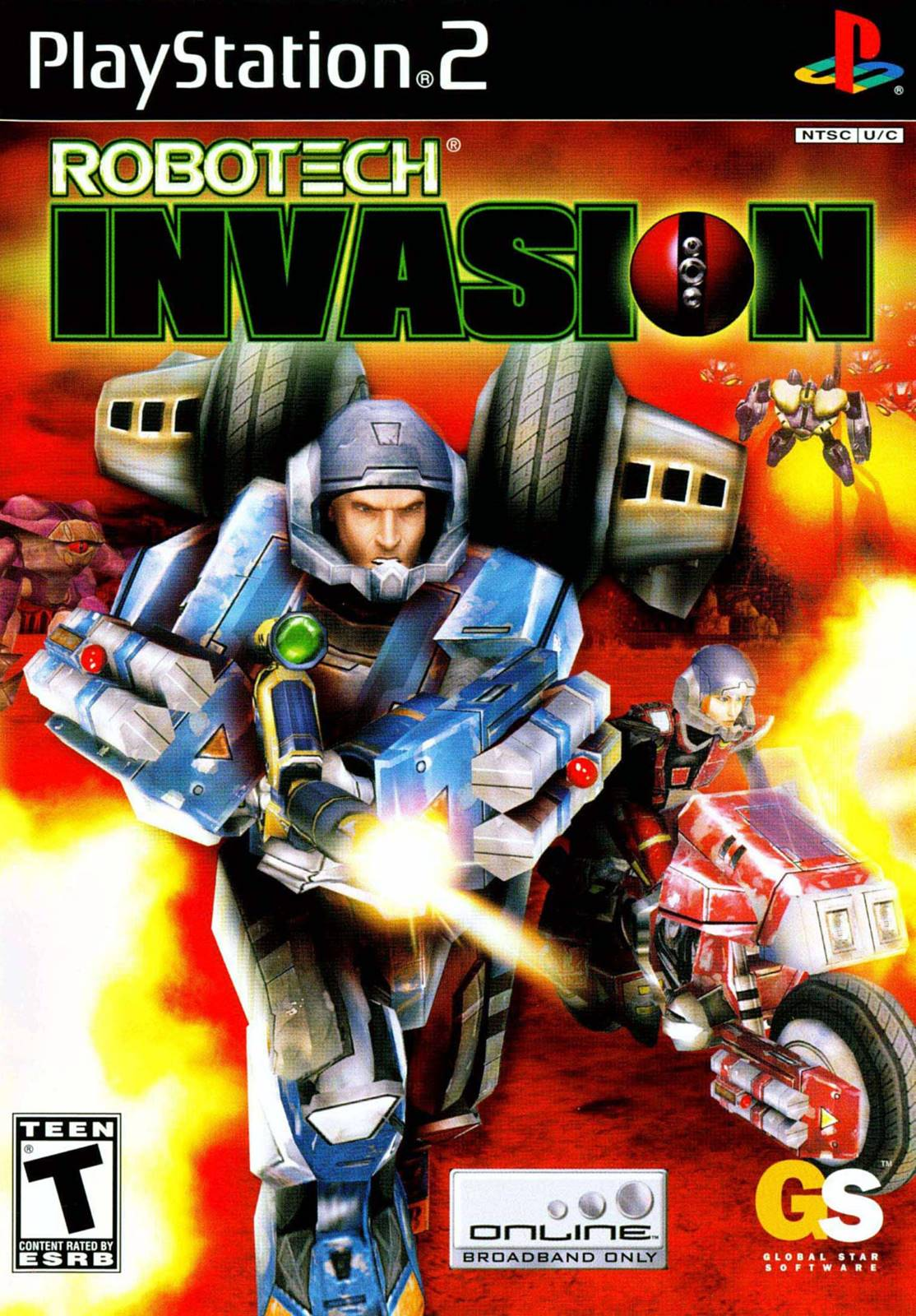 Robotech Invasion Sony Playstation 2 Game