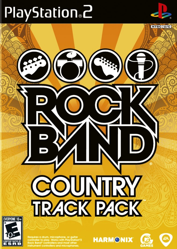 rock band track pack country sony playstation 2 game. Black Bedroom Furniture Sets. Home Design Ideas
