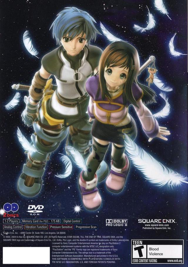 Star Ocean Till the End of Time Sony Playstation 2 Game