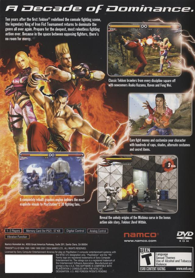 Tekken 5 Sony Playstation 2 Game