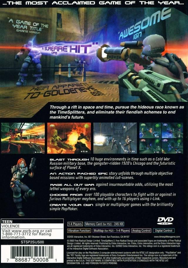 Time Splitters 2 Sony Playstat...