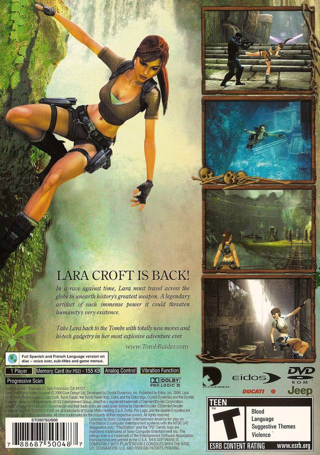 Tomb Raider Legend Sony Playstation 2 Game