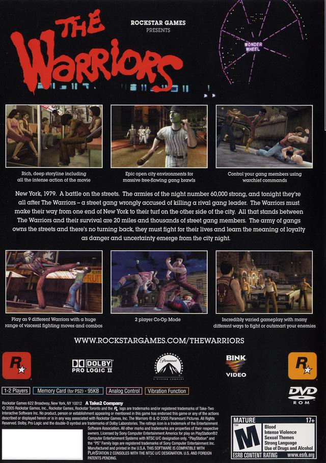 Warriors Sony Playstation 2 Game