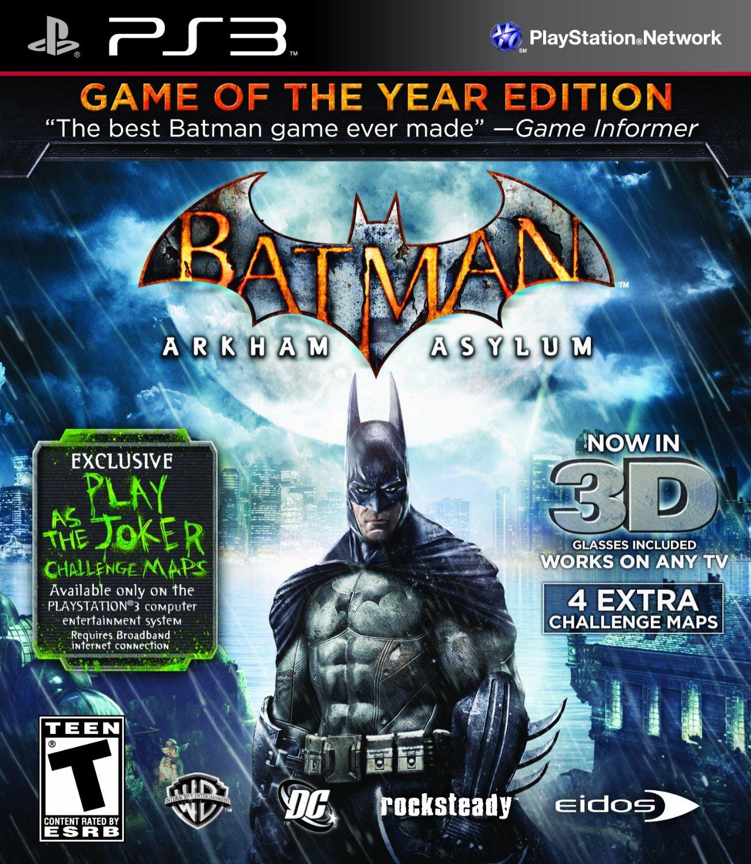 Batman: Arkham Asylum Game of the Year Playstation 3 Game