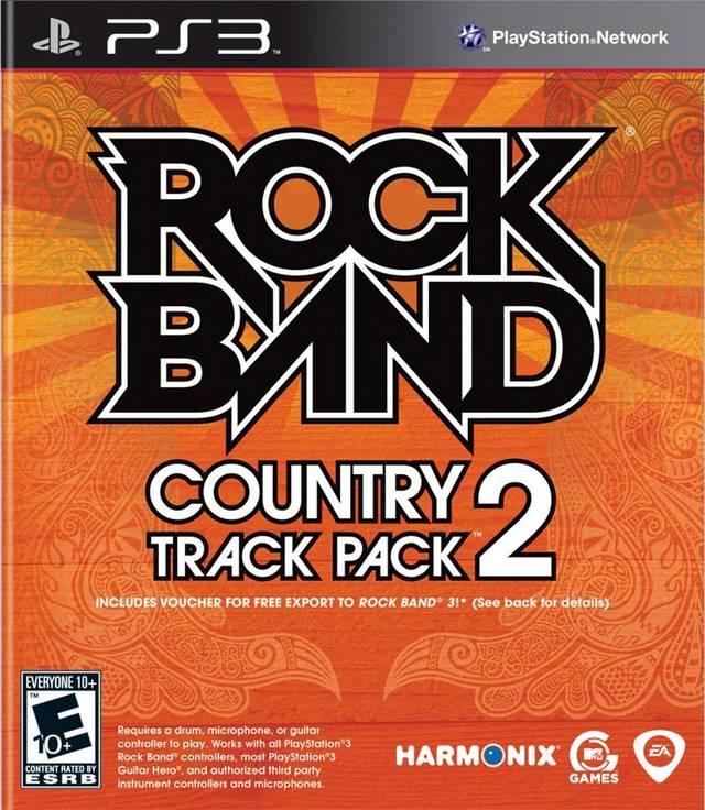 rock band track pack country 2 playstation 3 game. Black Bedroom Furniture Sets. Home Design Ideas