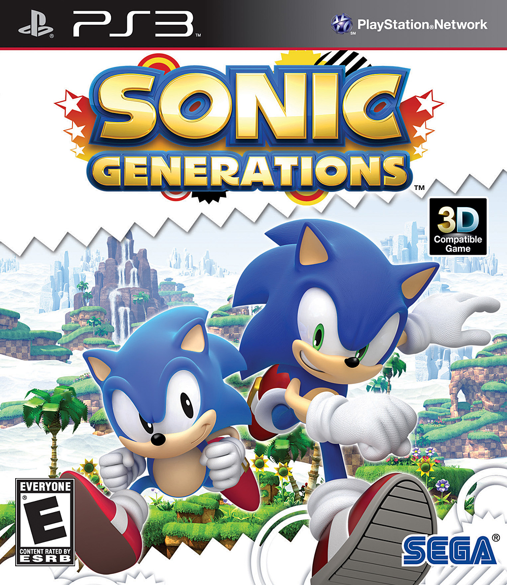 Sonic Generations Playstation 3 Game