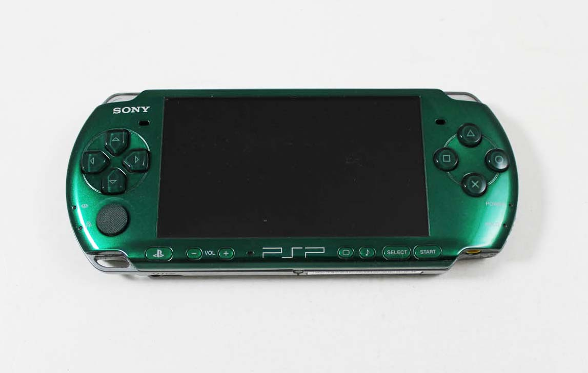 sony psp3000 green system