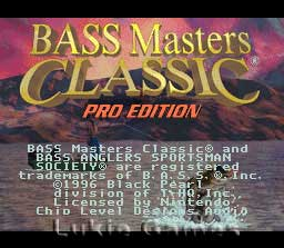 Bass Masters Classic: Pro Edition Cheats - Super NES ...