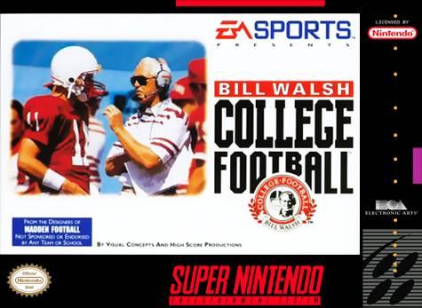 Bill Walsh College Football Snes Super Nintendo
