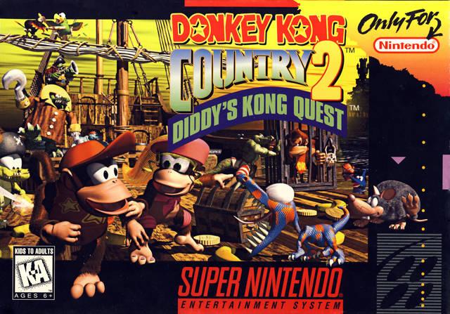 donkey kong country 2 snes super nintendo. Black Bedroom Furniture Sets. Home Design Ideas