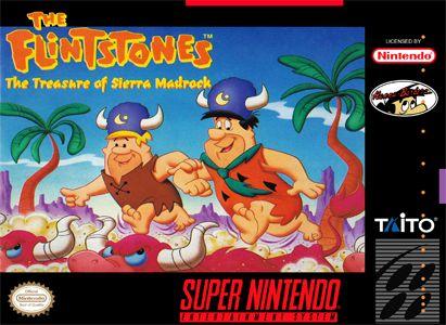 Flinstones Treasure of Sierra Madrock SNES Super Nintendo