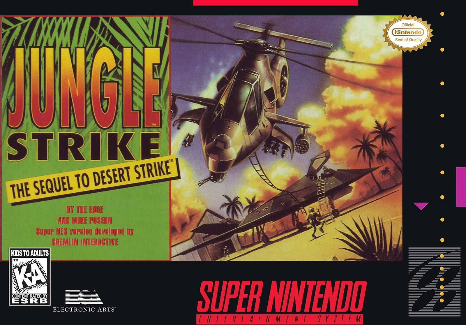 Jungle Strike The Sequel To Desert Strike Snes Super Nintendo