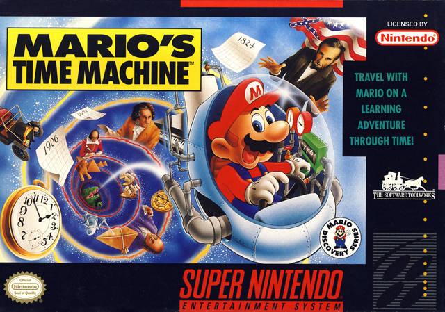 Mario S Time Machine Snes Super Nintendo