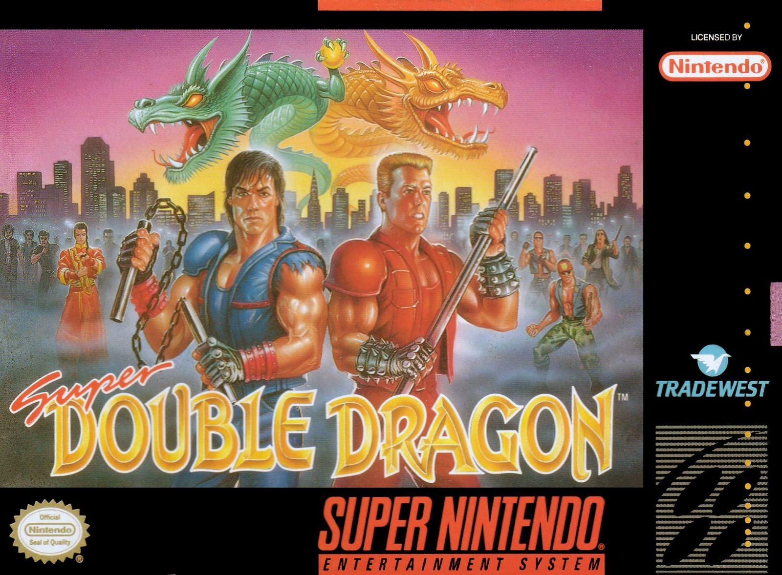 Super Double Dragon Snes Super Nintendo