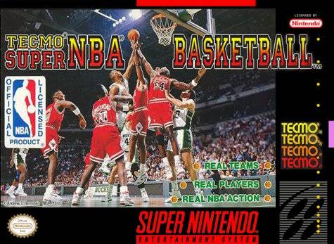 Tecmo Super NBA Basketball SNES Super Nintendo
