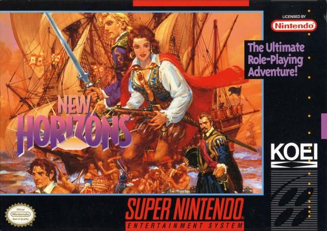 Uncharted Waters New Horizons SNES Super Nintendo