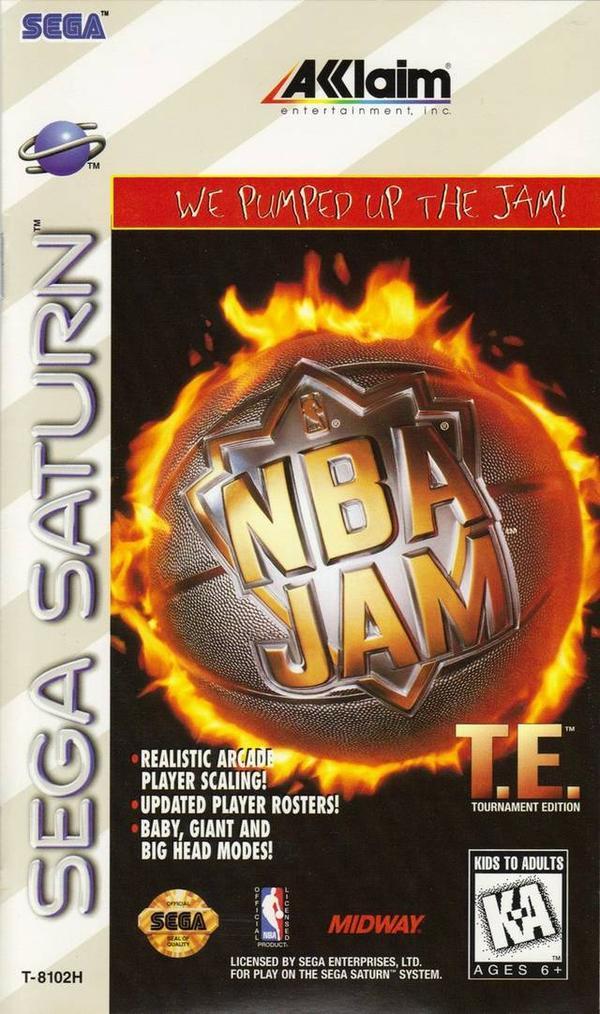 NBA Jam Tournament Edition Sega Saturn Game