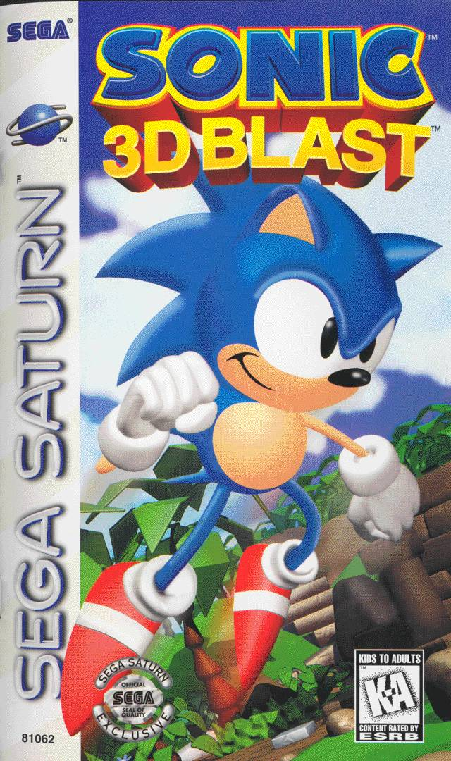 Sonic 3D Blast Sega Saturn Game